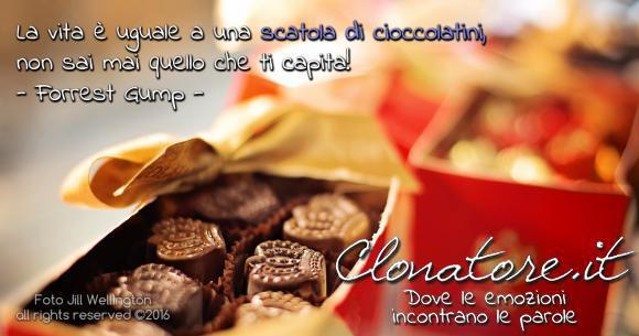 Mamma diceva sempre: la vita è uguale a una scatola di cioccolatini, non sai mai quello che ti capita!  - Forrest Gump