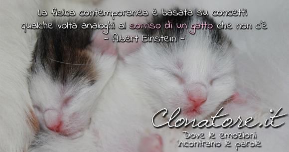 La fisica contemporanea è basata su concetti qualche volta analoghi al sorriso di un gatto che non c'è.  - Albert Einstein